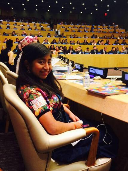 LGL Guatemalan Girl Leader, Emelin, speaking at the CSW59 last year.