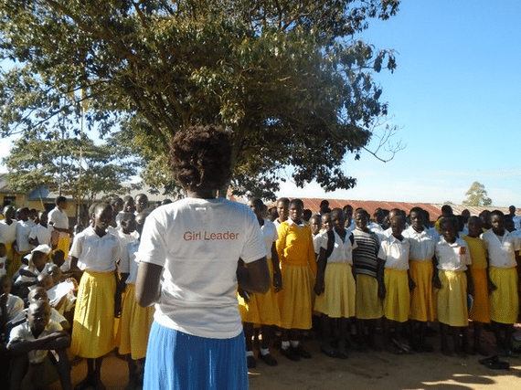 LGL Girl Leader in Uganda sharing her leadership skills with girls in her community.
