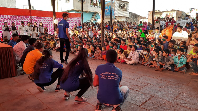 """Children in Mumbai during a """"Bal Sabha"""""""